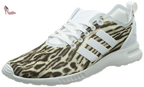 online store 2d991 13883 adidas Zx Flux Adv Smooth, Baskets Basses Femme  Amazon.fr  Chaussures et  Sacs