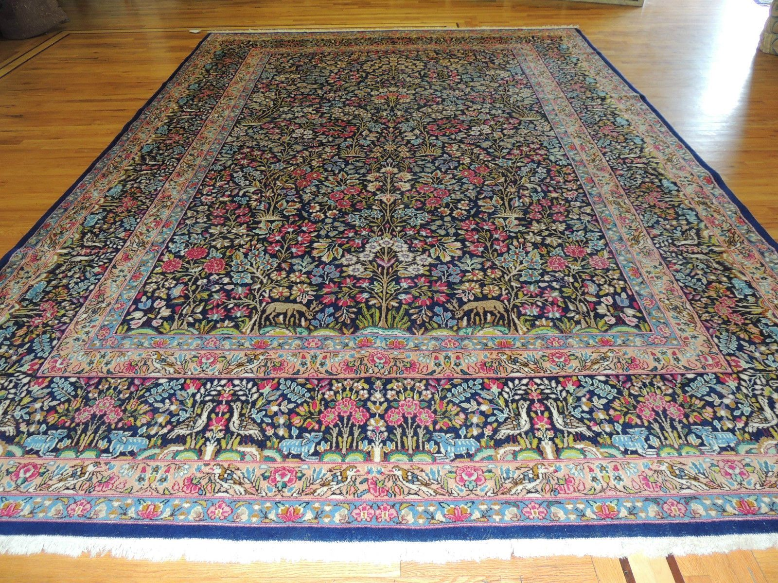 Gorgeous Persian Lavar Kerman Oriental Area Rug Carpet 10x14 Tree Of Life Concep Oriental Area Rugs Large Persian Rug Rugs