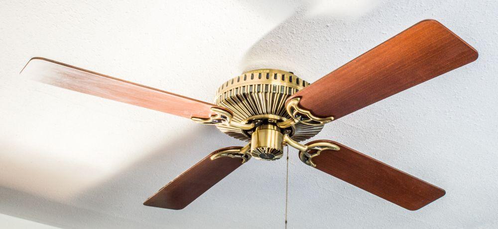 A Standstill Shot Of The Hunter Biarritz 1986 Ceiling Fan