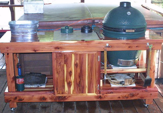 Big Green Egg Table With Storage By Sektormedia In 2019