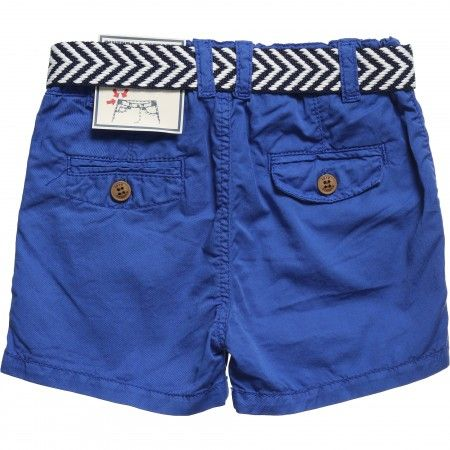 Mayoral - Boys Blue Cotton Shorts with Belt | CHILDRENSALON