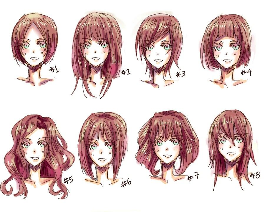 Anime Hairstyles (With images) Manga hair, Anime hair