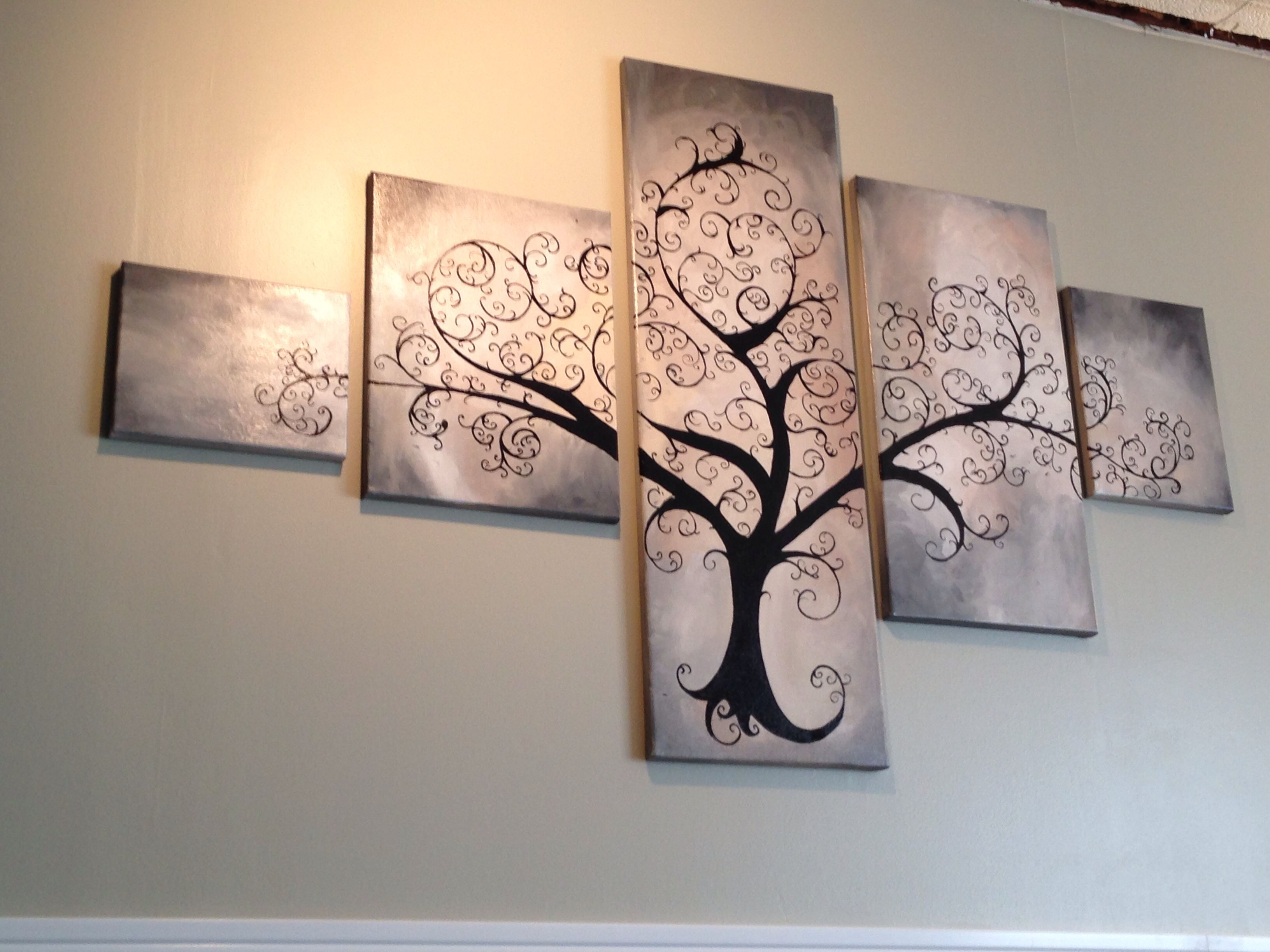 Pin By Christina Whitlock On Art And Inspiration Multi Canvas Art Tree Art Multiple Canvas Paintings