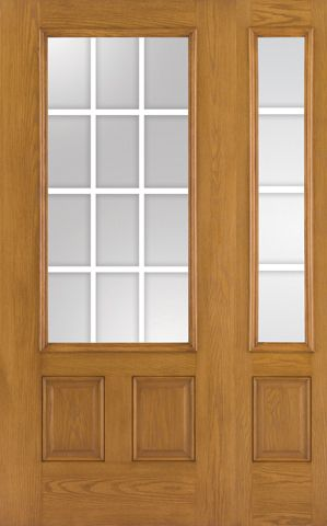 Oak Fiberglass Impact French Door 12 Lite Gbg 6 8 1 Sidelite French Doors French Doors Patio Sliding Patio Doors
