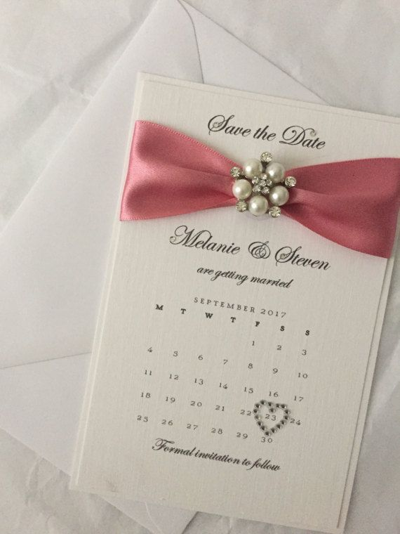 Sample Pearl Wedding Calendar Save The Dates Handmade Luxury