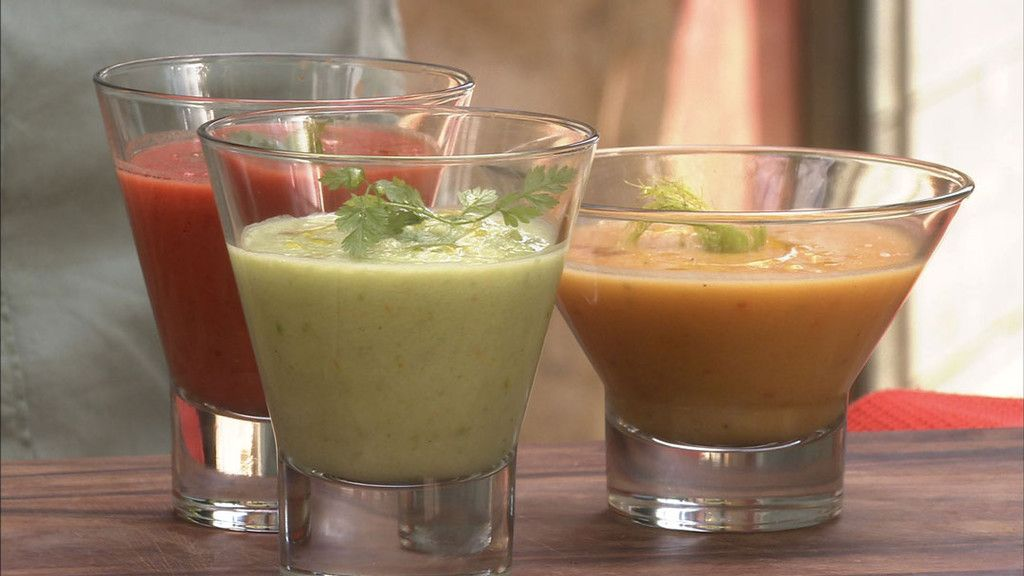 Petits Plats en Equilibre - Trio de gaspacho à la tomate