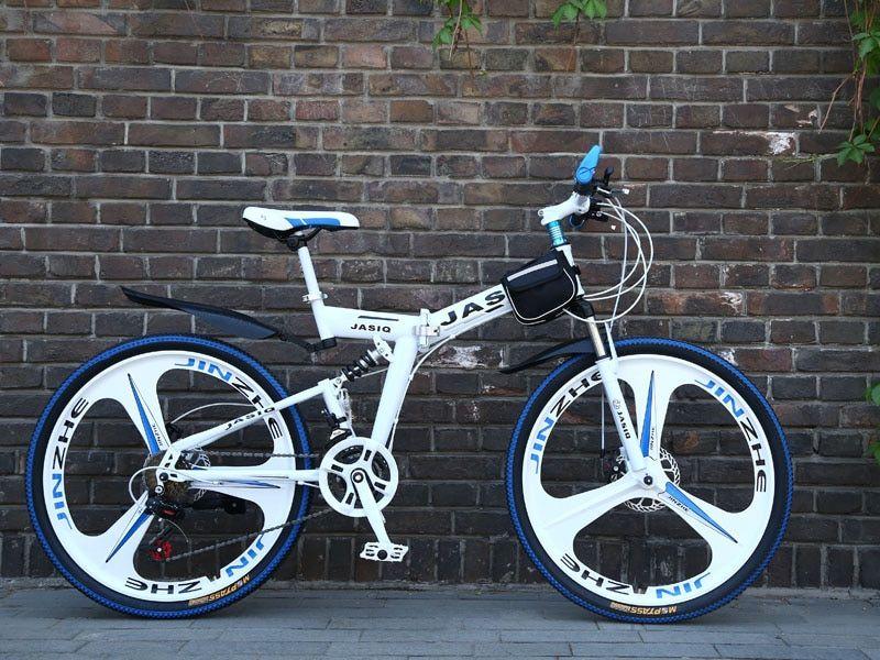 26 Inch Mountain Bike 21 Speed Folding Mountain Bicycle Double