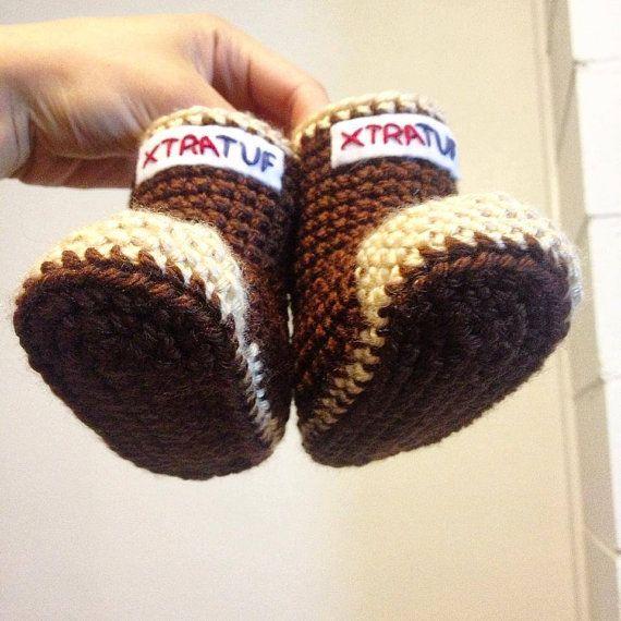 Baby's first XtraTufs! By Fairbanks Etsy seller iheartamicute (Nanae Ito)