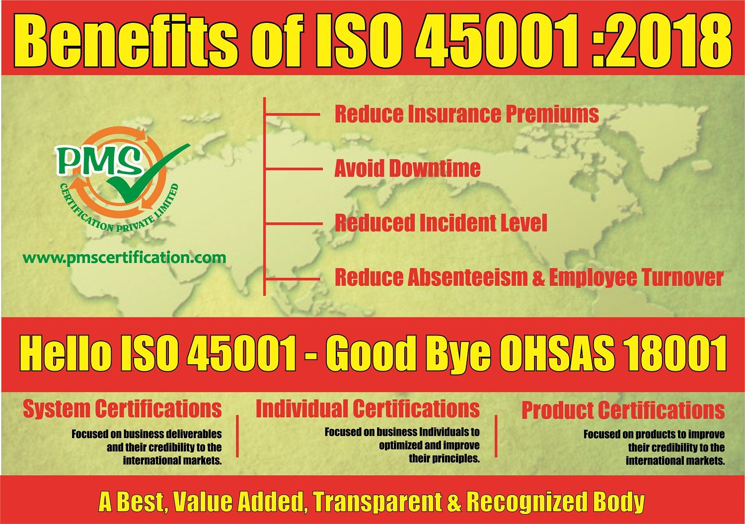 ISO has developed a new standard, ISO 45001, Occupational