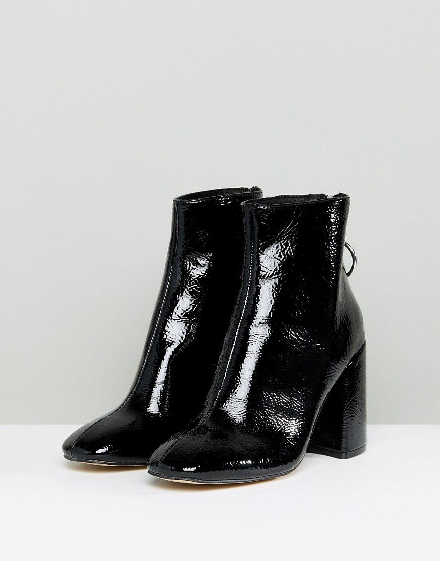 c1a4aad5ee5 Steve Madden Posed Black Heeled Ankle Boots - Black