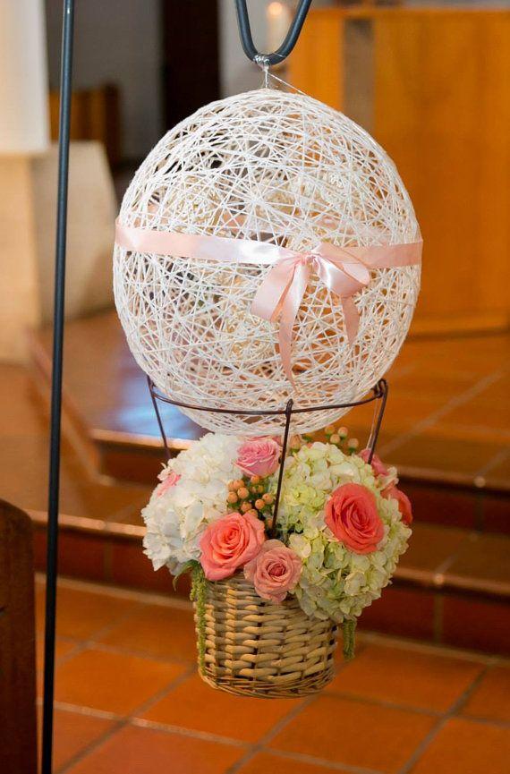 Handmade Hot Air Balloon Centerpiece Basket By