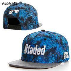 Faded leaf Snap back cap