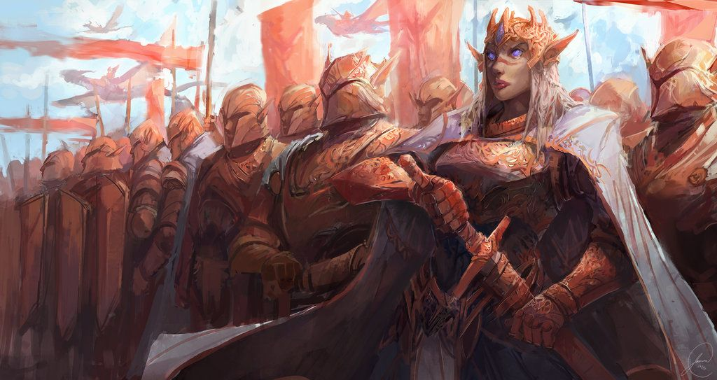 Elven Army | Fantasy art, Warriors illustration, Character art