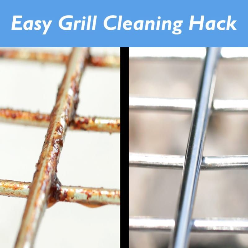 this grill cleaning hack is genius id es pour la maison. Black Bedroom Furniture Sets. Home Design Ideas