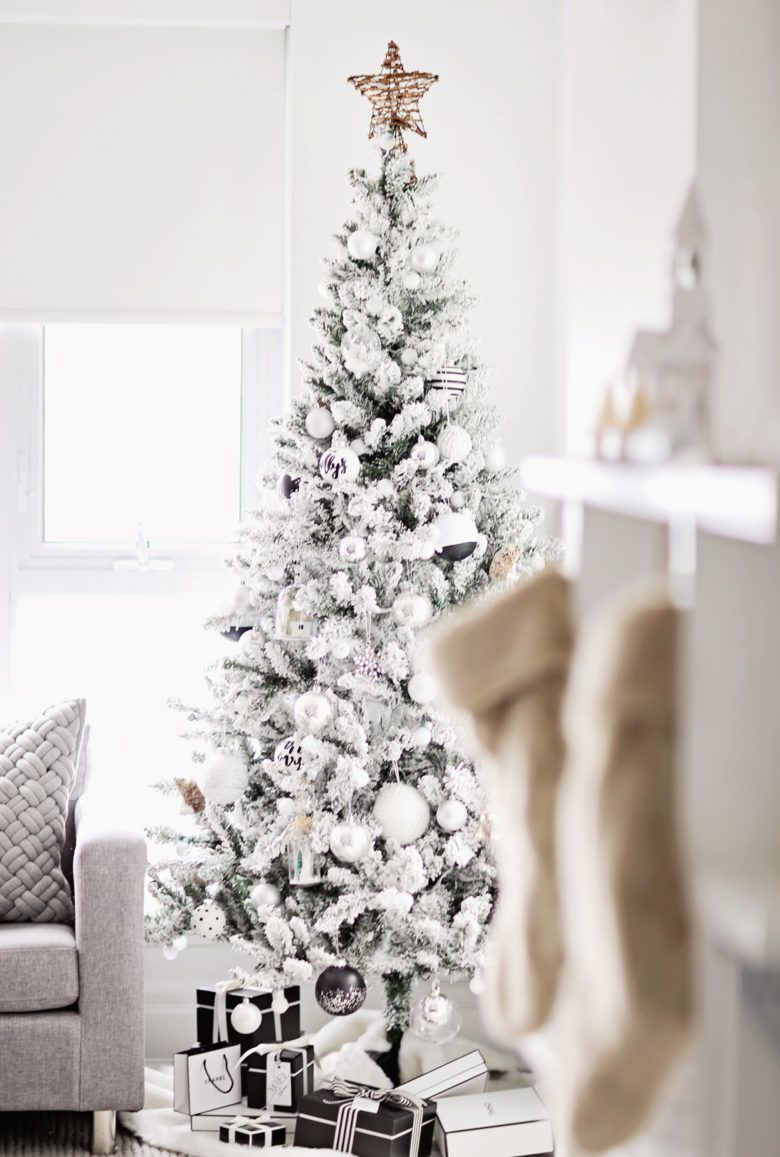 10 Elegant Christmas Tree Decorating Ideas Iconic Life Elegant Christmas Trees White Christmas Trees Flocked Christmas Trees