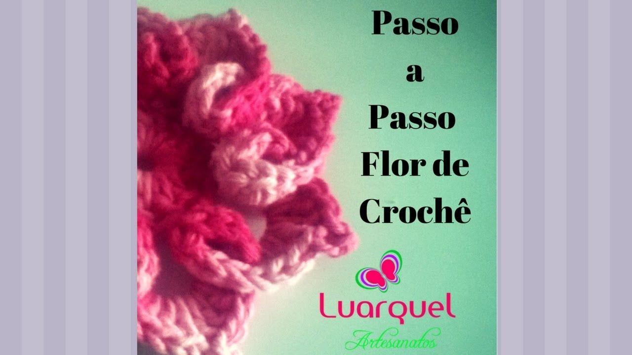 Passo a Passo Flor Coração - Crochê
