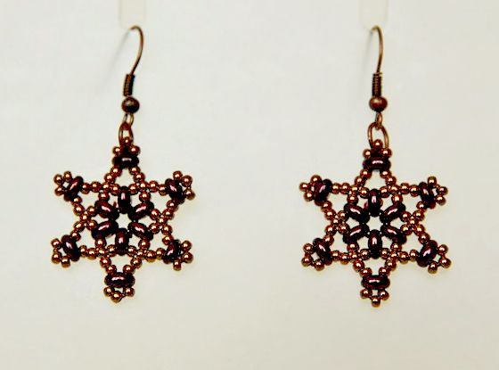 Free Pattern For Earrings Twin Stars Beading Patterns Free