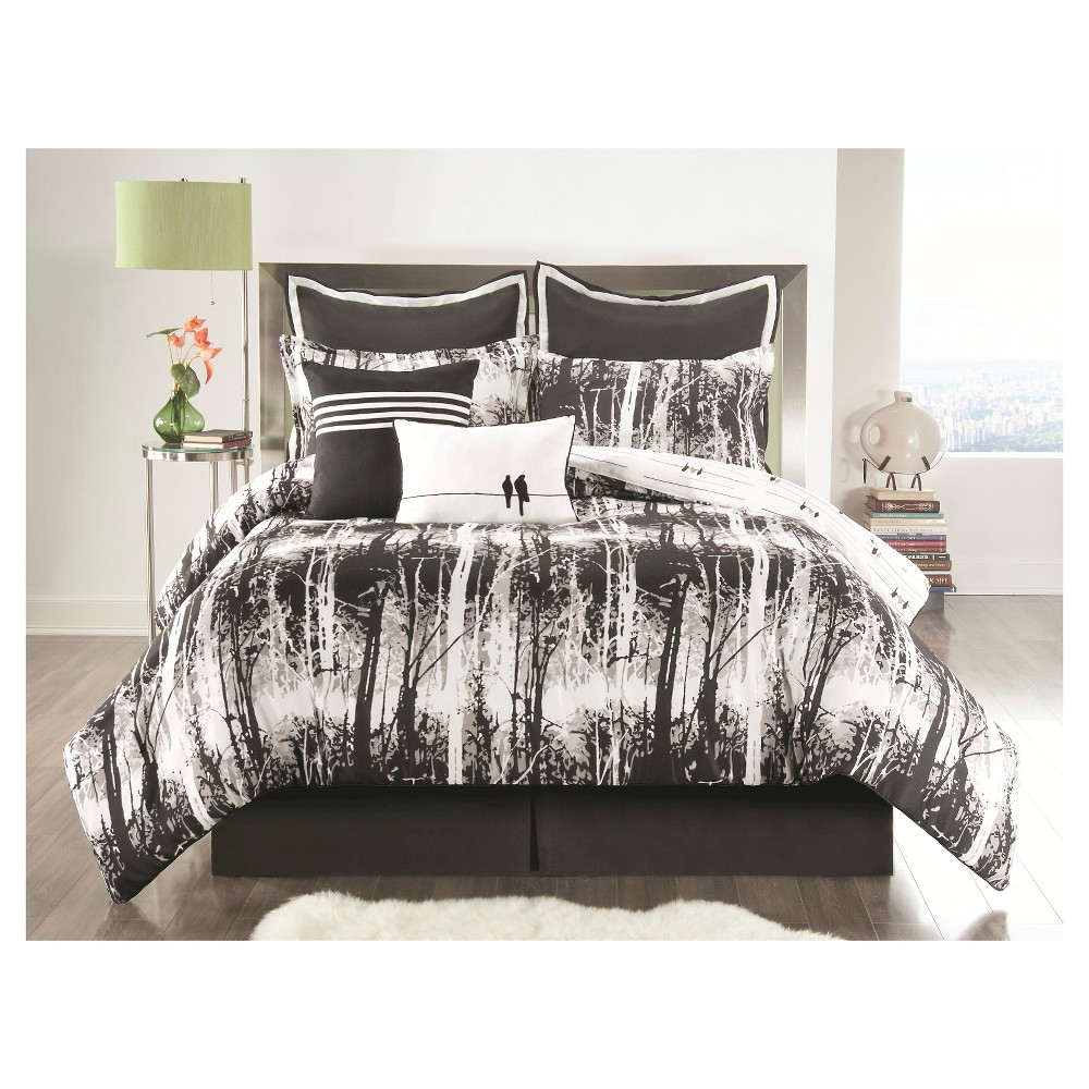 Pcs peter pan bedding set duvet cover fitted sheet pillow case worl - Woodland Comforter Set Queen Black 6 Piece Vcny