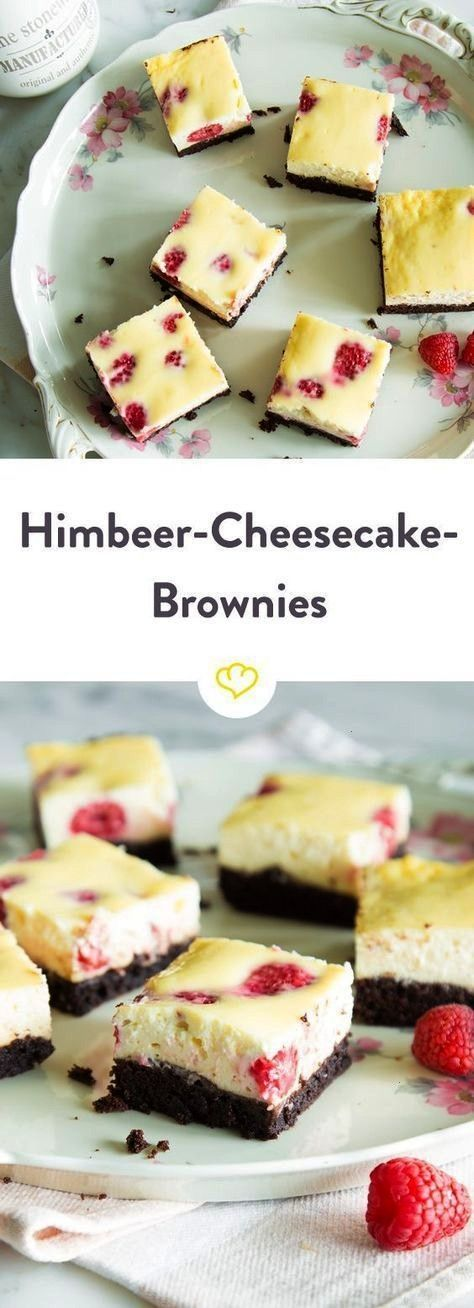 among themselves raspberry cheesecake brownies  It comes together what belongs together Brownies to cheesecake Raspberries to cheesecake And br Classic among themselves r...