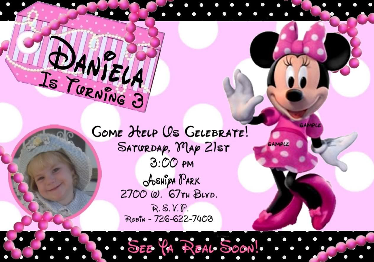 Minnie Mouse Birthday Invitations Hd Images 3 Birthday Pinterest