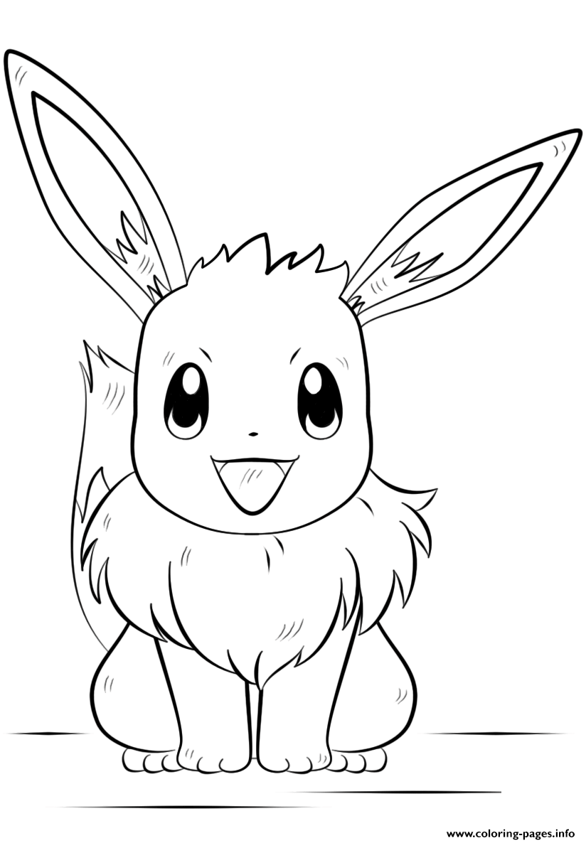 Print eevee pokemon coloring pages Pokemon coloring