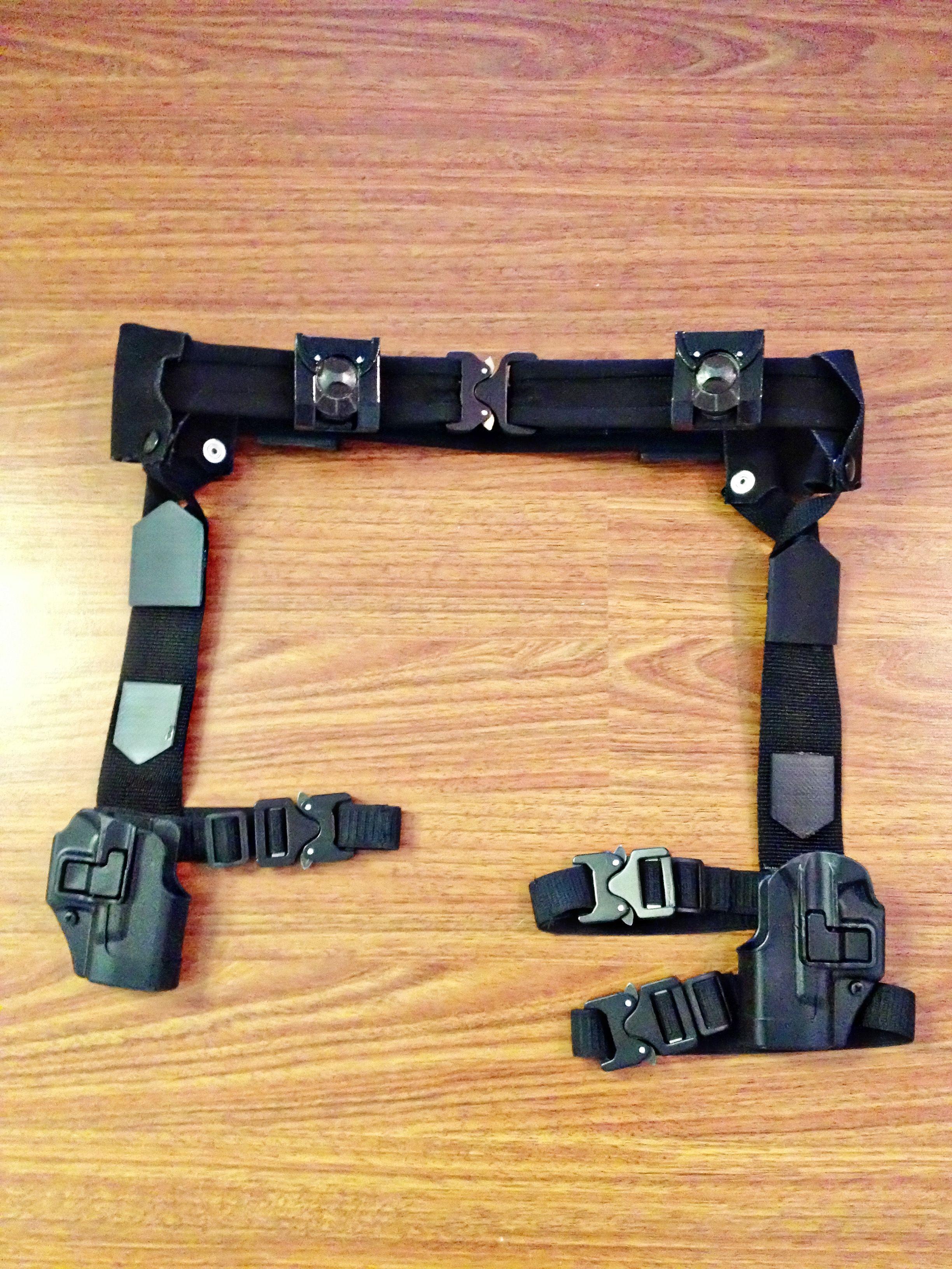 My finished upgraded gun belt