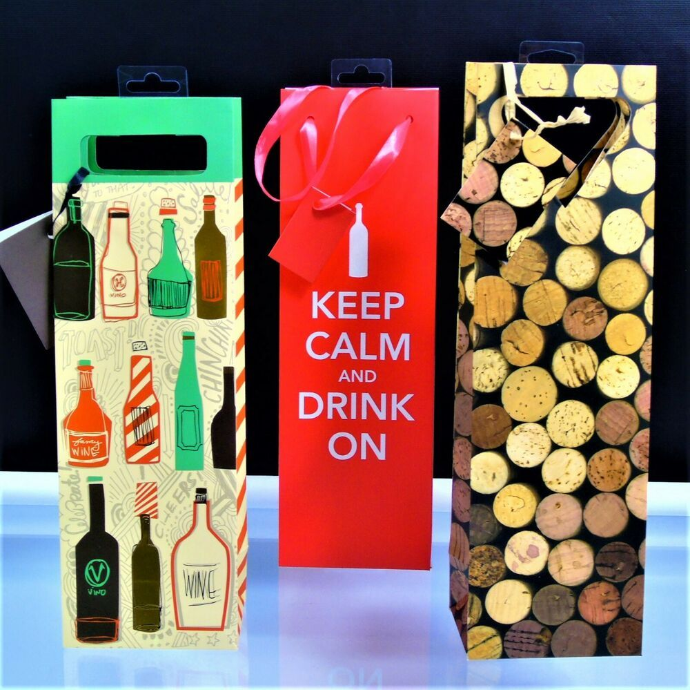 Single Bottle Wine Gift Bags 3 Paper Bags New Gift Holidays Cakewalk In 2020 Wine Gift Bag Wine Bottle Gift Bag Wine Gifts