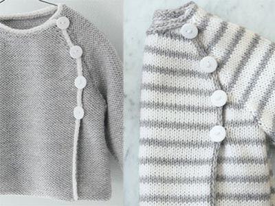 ray e ou unie de quelle fa on allez vous tricoter ce mod le de brassi re pour votre b b d. Black Bedroom Furniture Sets. Home Design Ideas