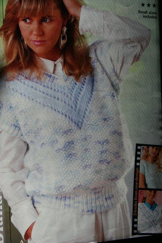 Vest Knitting Pattern Patons 8700 by elanknits on Etsy (Craft ...