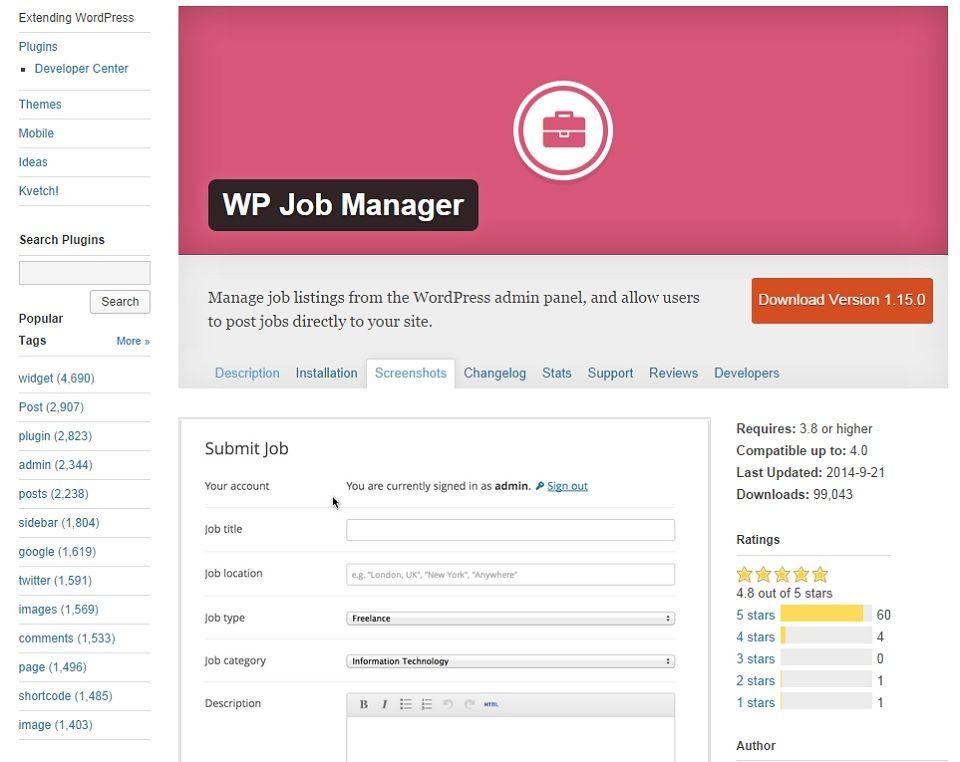 WP Job Manager Traduction en francais, Thème wordpress