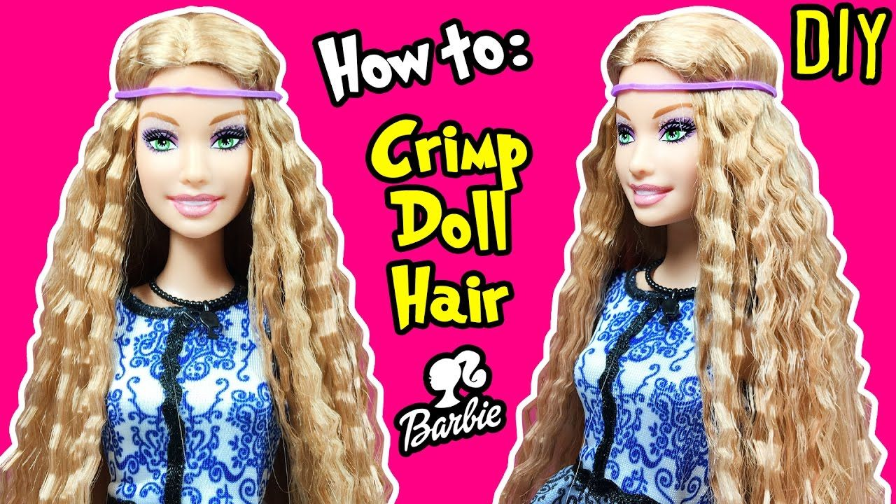 How to Crimp Barbie Doll Hair - DIY Barbie Hairstyles Tutorial