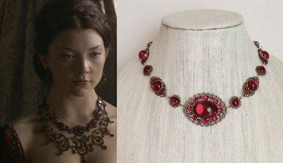 Anne Boleyn Ruby Strand Necklace annebneck128 by tudorshoppe