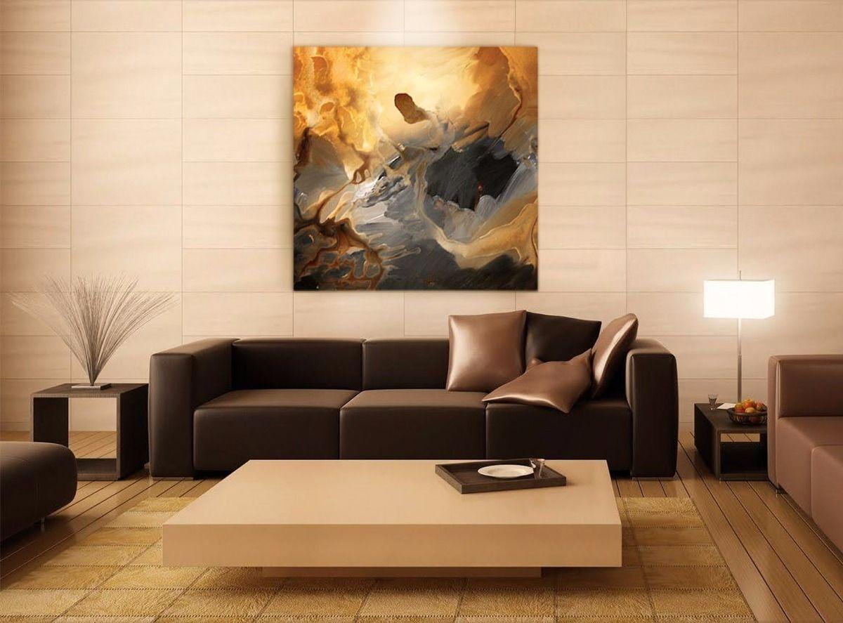 Resultado de imagen para piso ceramico marron para sala for Pintado de salas pequenas