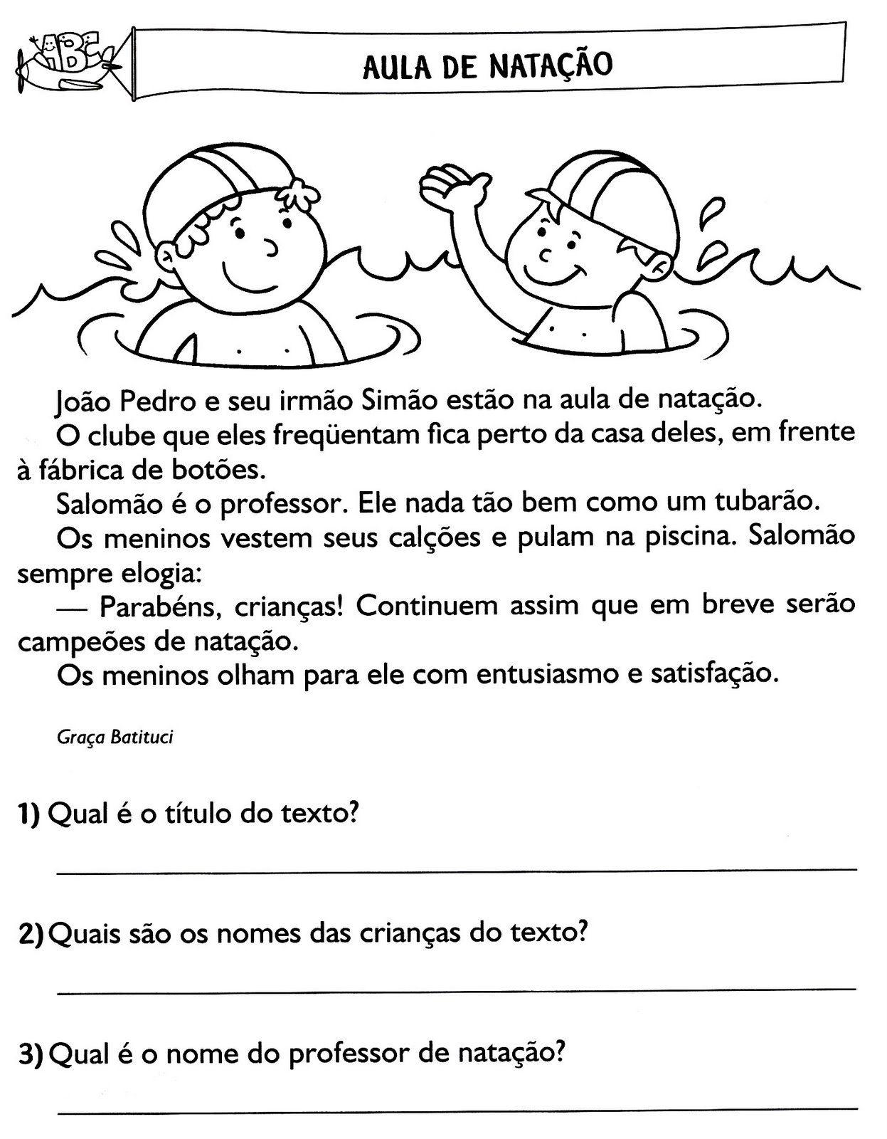 Populares atividades de interpretação de texto (13) | Jussara | Pinterest  HO87