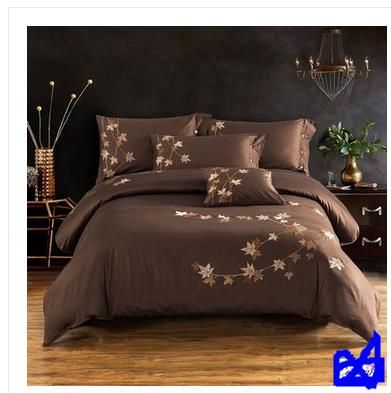 highest gradesuper soft silky 60 s Egyptian cotton satin drill solid color cotton embroideredBed is tasted