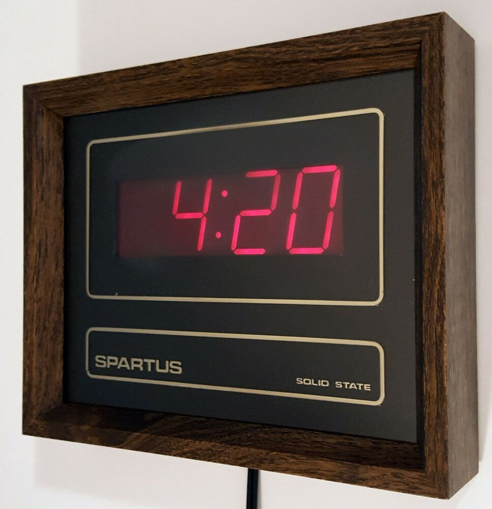 Space Age Digital Wall Clock From The 70s Digital Wall Wall Clock Light Retro Clock