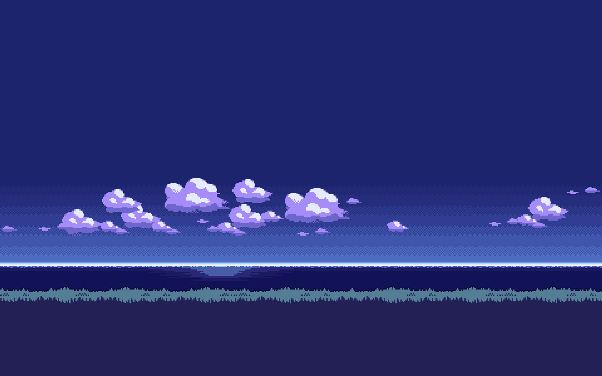 8bit Sky Night Pixel Art Desktop Wallpaper Art Wallpaper