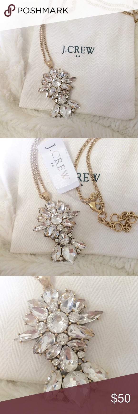 Offer party j crew long pendant necklace nwt my posh picks