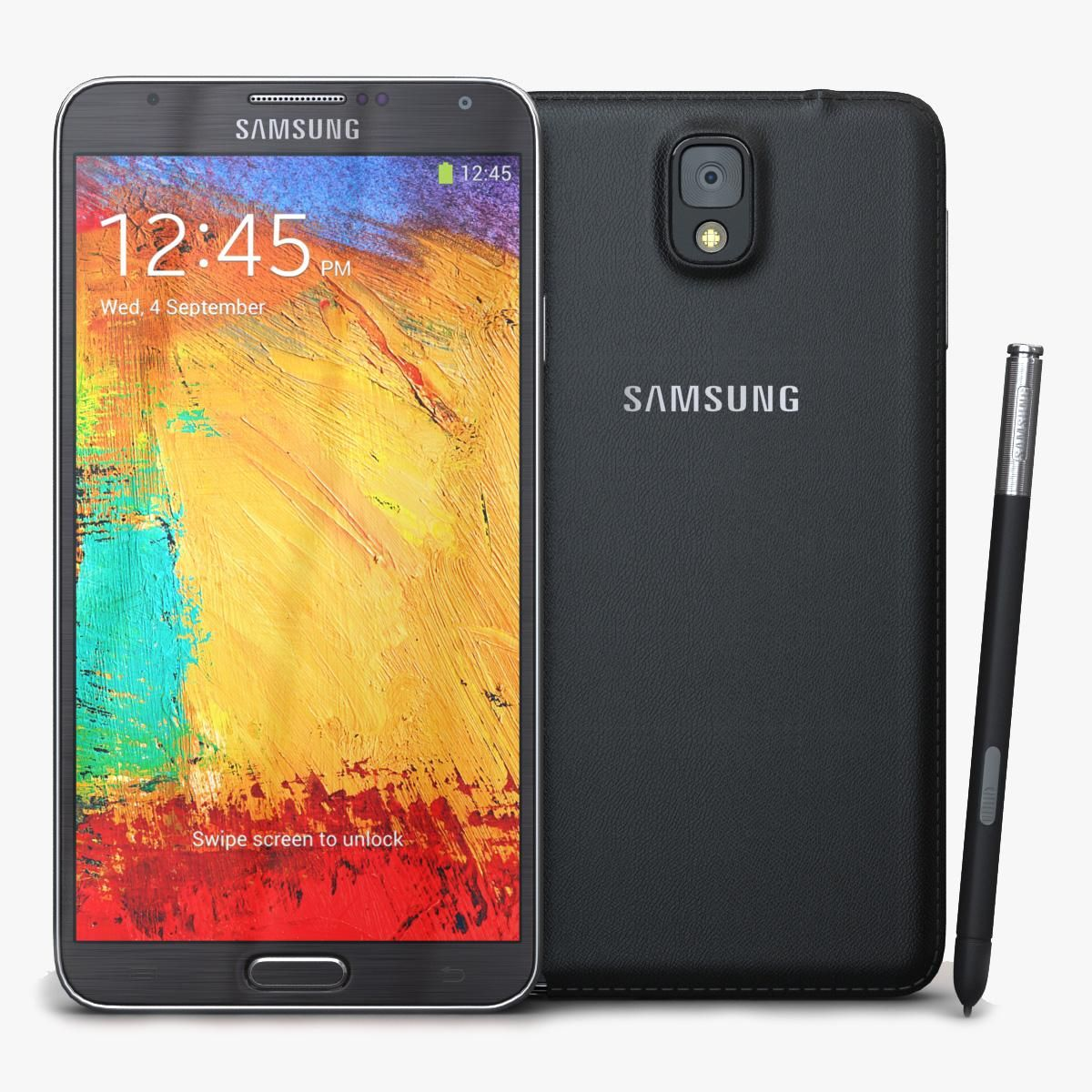 Samsung Galaxy Note 3 Black 3d Model Ad Galaxy Samsung Note Model Samsung Galaxy Galaxy Note 3 Galaxy