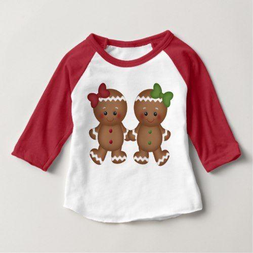Christmas Gingerbread Baby Girl S T Shirt Popular Christmas Shirts