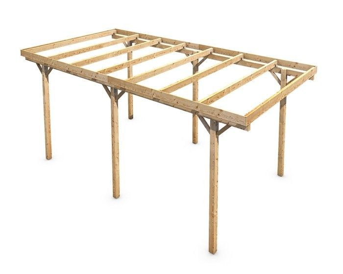 carport selber bauen mehr als 70 ideen und bauanleitungen garten pinterest. Black Bedroom Furniture Sets. Home Design Ideas