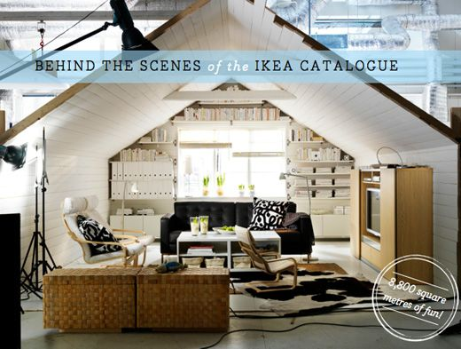 tour behind the scenes of the ikea catalogue studio pinterest room set living spaces and. Black Bedroom Furniture Sets. Home Design Ideas