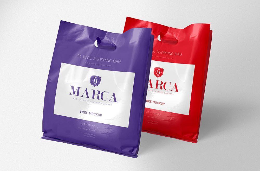 Download Free Plastic Bag Mockup Desain Logo Desain Periklanan
