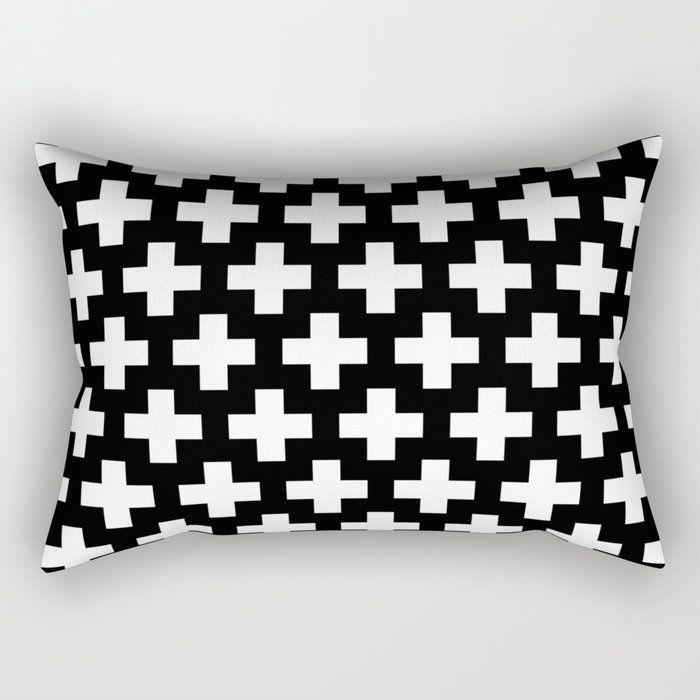 Scandinavian Bedroomdesign Ideas: Buy Swiss Cross Plus Signs Rectangular Pillow By Bitart On