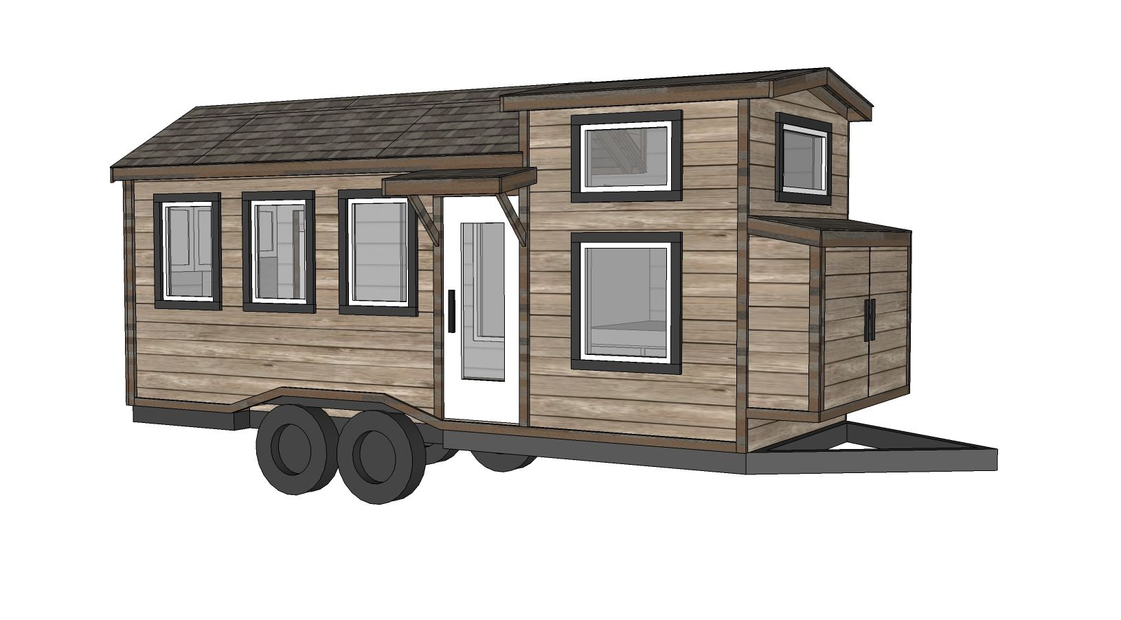 Achat Remorque Tiny House tiny house with bathroom free plans - ana-white | plans