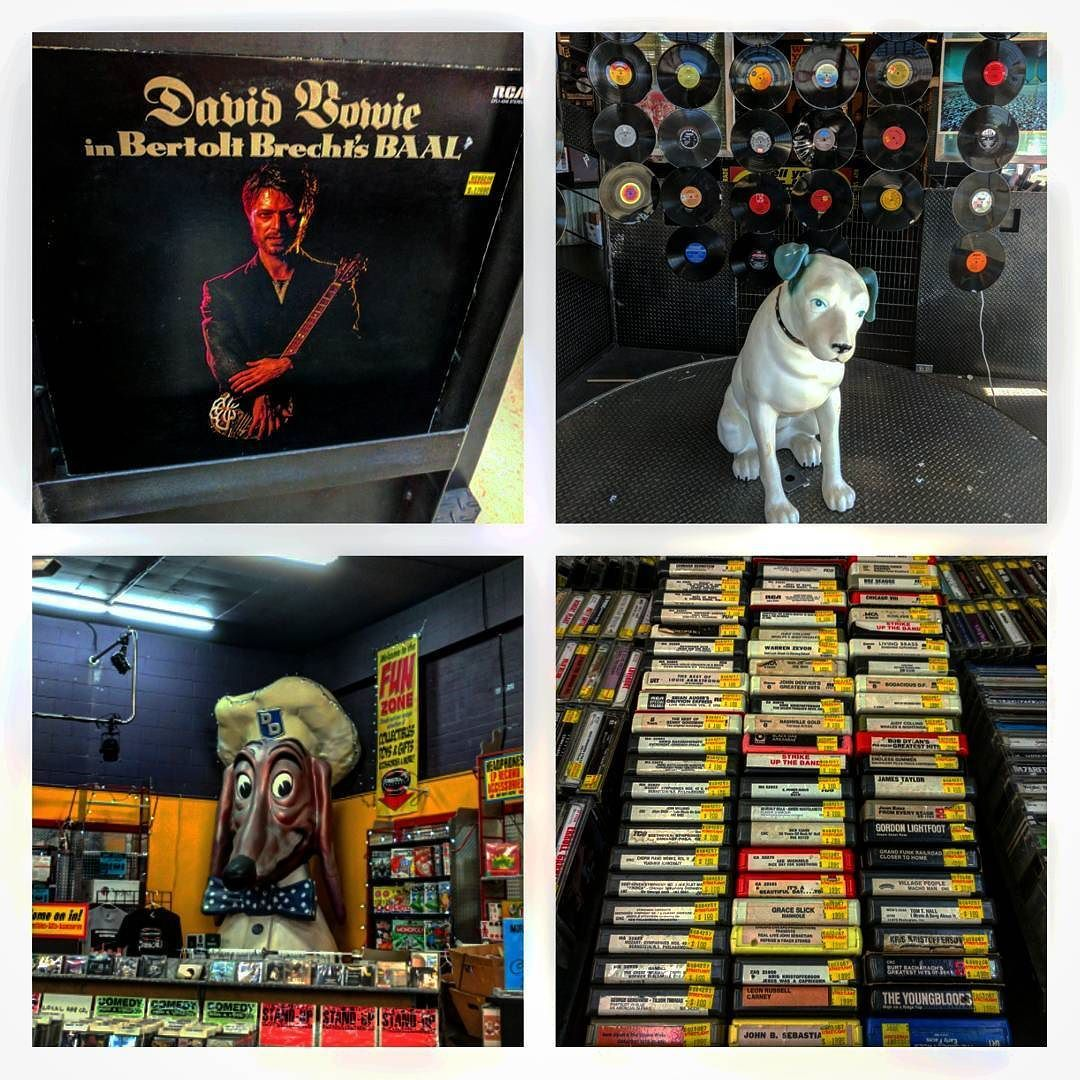 Just took a stroll down to the #record store. #DTSJ #vinyl #8tracks #bowie
