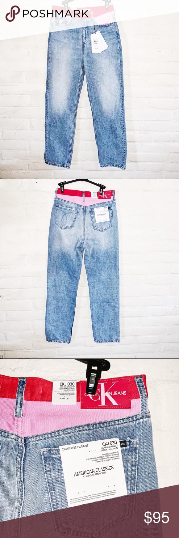 c278b2a415e Calvin Klein • High-Rise Straight Leg Jeans (30) Calvin Klein High-. Visit.  March 2019