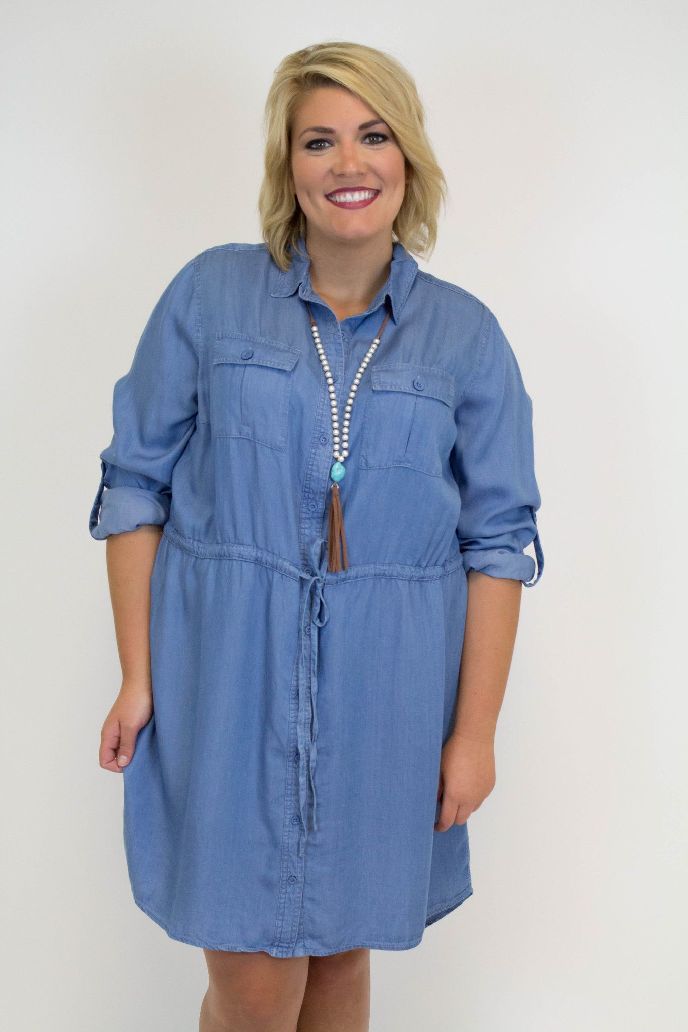 Denim Dress Plus Size Sleeved Dress Models And Clothes