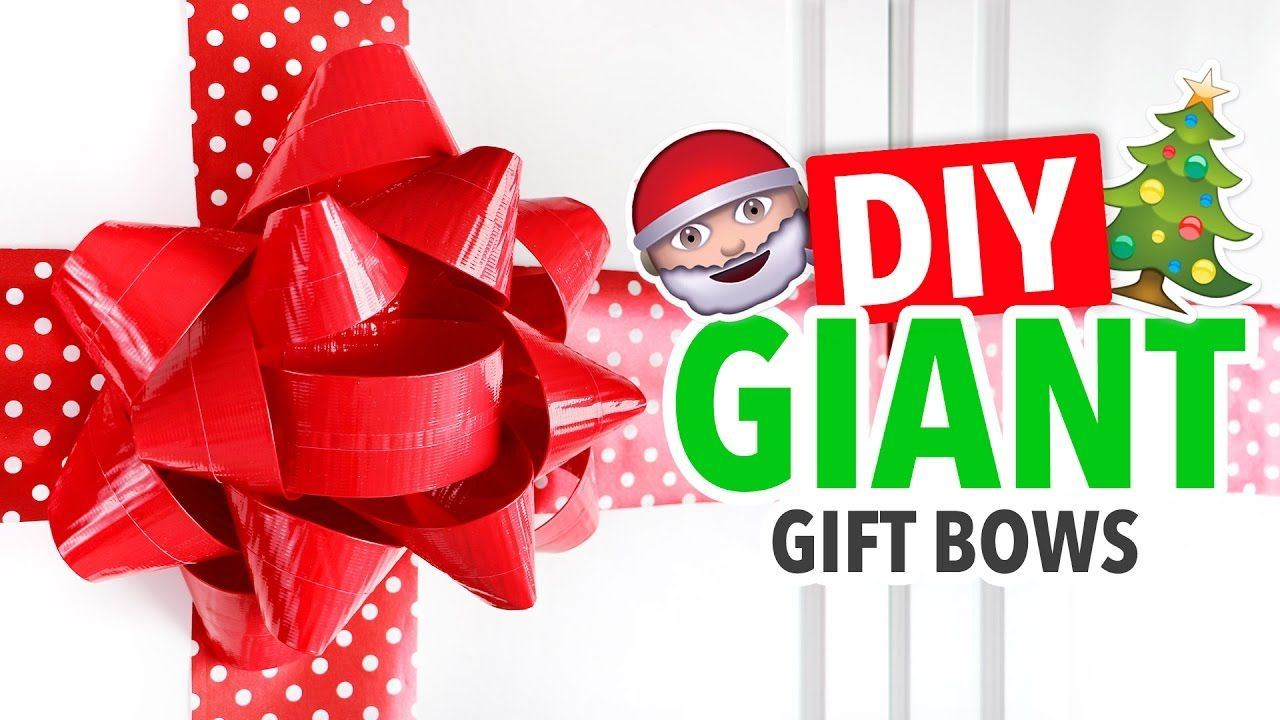 DIY Giant Gift Bows Video Oversize Christmas Gift