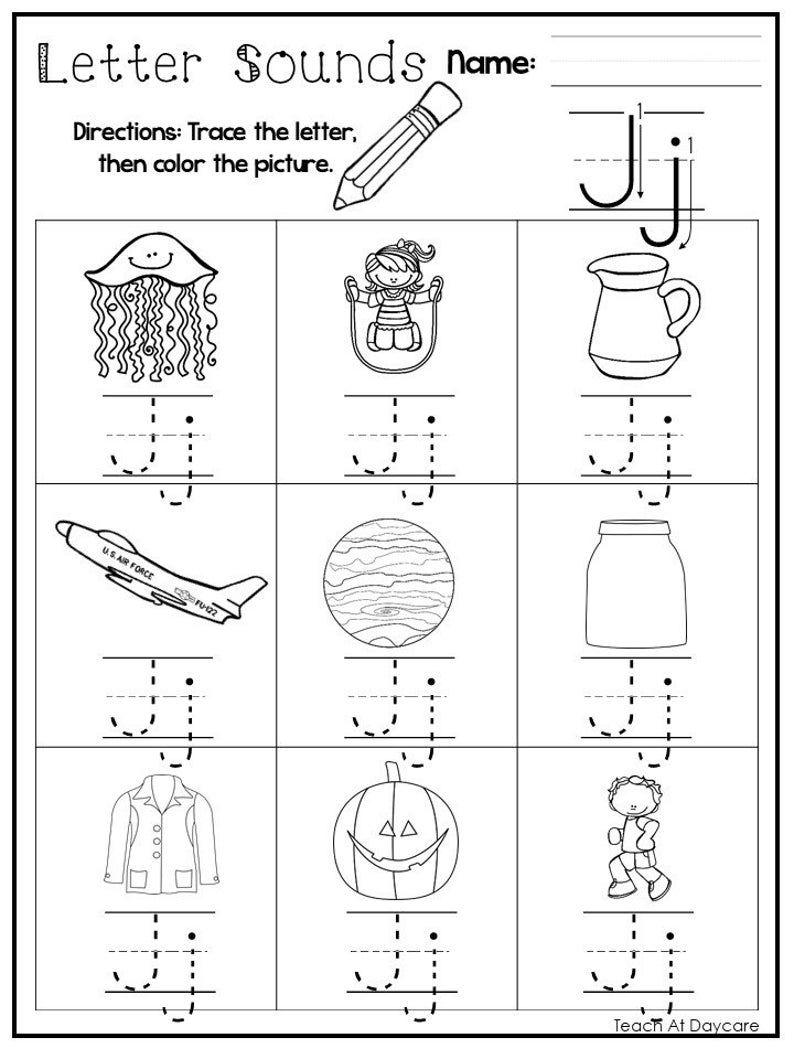 26 Printable Alphabet Letter Sounds Worksheets Preschool Kdg Phonics In 2020 Printable Alphabet Letters Alphabet Printables Letter Sounds